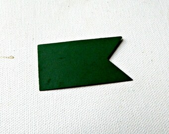 Die Cut Pennant Flag hand punched from paper cardstock choose amount & color DIY craft supply, make tags, ribbons, straw or pick toppers