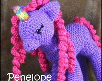 Penelope - Medium stuffed pony unicorn toy
