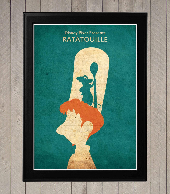 Ratatouille pixar poster for Minimalist living movie