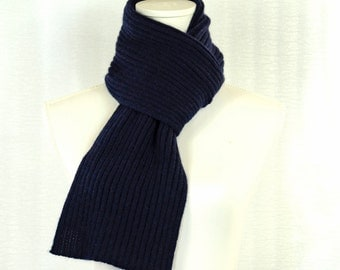 Cashmere scarf.   Navy Blue  .