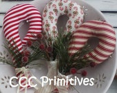 Primitive Pattern - Candy Cane Bowl Filler E-Pattern - Candy Cane Ornament Pattern - Candy Cane Ornie Pattern - Handmade Candy Cane Pattern