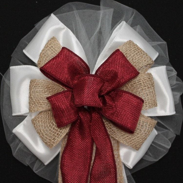 Burlap Ideas For Weddings: Burgundy And Natural Burlap Rustic Wedding By