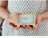 Wooden Business Card Holder [ANIMALS of 8 Types] / Memo Holder / Business Card Stand / Polaroid Picture Holder