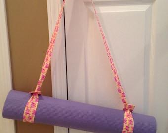Yoga Mat Strap in Pastel Petals