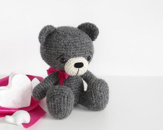 Amigurumi To Go Bear Pattern : PATTERN: Teddy Bear Crocheted sitting bear Amigurumi