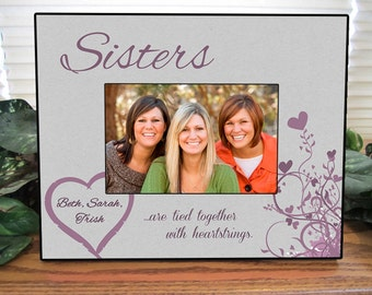 personalized sisters frame personalized sister picture frame personalized sister photo frame 4x6 5x7