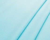 Fresh blue couture fashion fabric—solid blue, polyester fabric, waffle pattern,anti-wrinkle for top,dress,skirt,pants,coat,craft by the yard