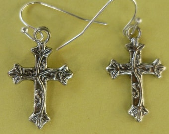 Beautiful Celtic Cross Earrings  E012