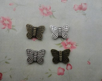 2 colors choice--200pcs--metal butterfly pendant-metal butterfly charm-metal butterfly bead---MPC3302-200