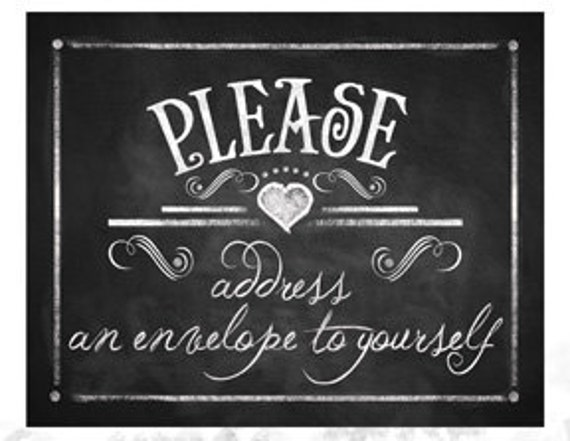 Printable Chalkboard Sign PLEASE ADDRESS An Envelope To