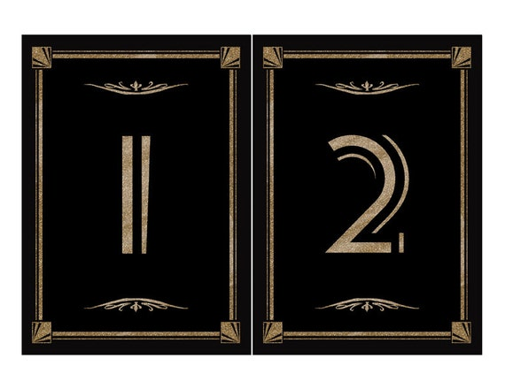 DIY Printable Table Numbers For Your Great Gatsby-Roaring