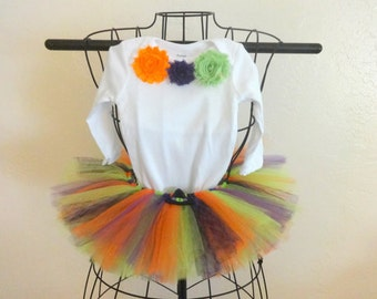 Baby Halloween witch costume, Baby witch costume, Infant girl Halloween costume, Girl Halloween bodysuit set, Halloween tutu and bodysuit