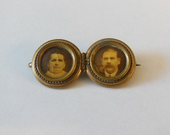 19th Century Double Photo Pin