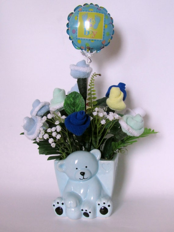 Baby Boy Gifts Flowers : It s a boy baby shower centerpiece gift