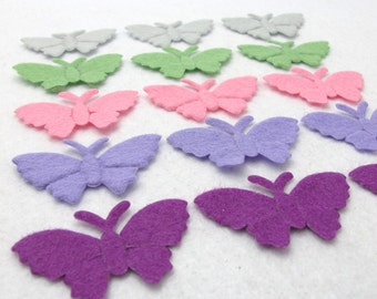 Your Choice of Color(s)|Set of 30 Pieces Big Felt Butterfly Shape Die Cut|Polyester Felt|Scrapbook|Supply|Craft