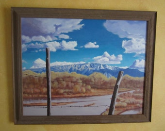 Rio Grande - Promised Land Original Framed Acrylic Painting