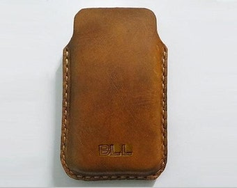 Handmade iPhone 5 / 5S ,  iPhone 4 and 4S Antique Leather Sleeve Case , iPhone Case , iPhone Leather case, Free Monogramming