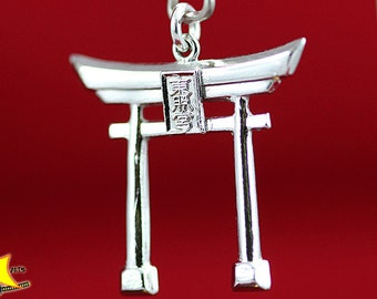 925 Sterling Silver Japanese Torii Gate Shinto Pendant - Shipping with TRACK NUMBER!!!
