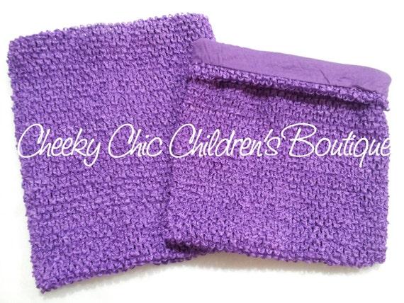 LINED 10x9 inch PURPLE / Grape Crochet Tutu Dress Tube Top [LCB10PU]