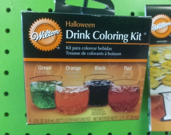 Halloween Drink coloring kit