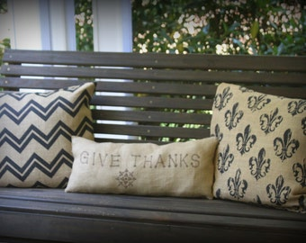 Beautiful BURLAP pillows! On Sale Now!