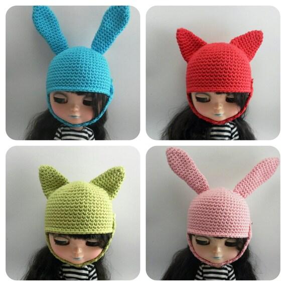 Blythe Hat // Gorro de crochet hecho a mano con por Hikarugurumi