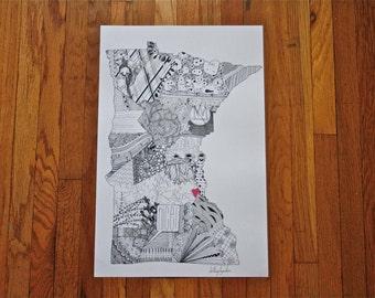 MN Nice! print [ black & white ]