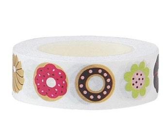 Donuts Washi Tape  -Deco tape-- 15mm x 15M