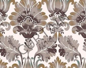 "Pair of Rod Curtain Panels, Damask Pattern 51""x78"" Drapery Window Treatments Set SALE"