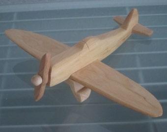 Thunderbolt airplane flier vintage wood handmade