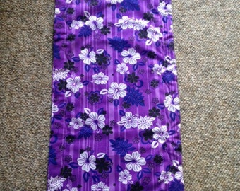 Tropical Purple Table Runner