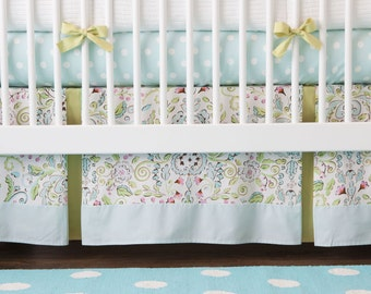 Girl Baby Crib Bedding: Bebe Jardin 2-Piece Crib Bedding Set by Carousel Designs