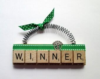 Jackpot Winner Scrabble Tile Ornament
