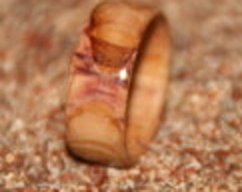 Lilac wood ring - made to order