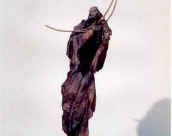"""Teruah - Unique, One of a Kind Figurative Sculpture Cast in Bronze.  57"""" x 16"""" x 13"""""""