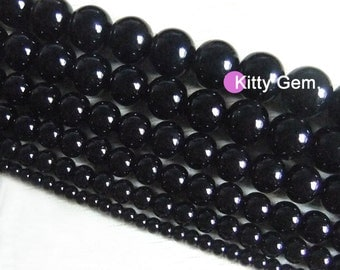 4-10mm Black Onyx Beads agate loose bead