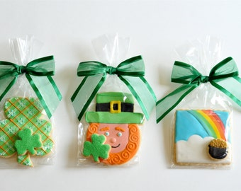 Three St. Patrick's Day Cookie Favors