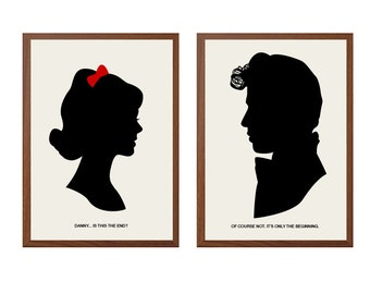 GREASE | Only The Beginning Poster : Danny Zuko Sandy Modern Illustration Grease Retro Art Wall Decor