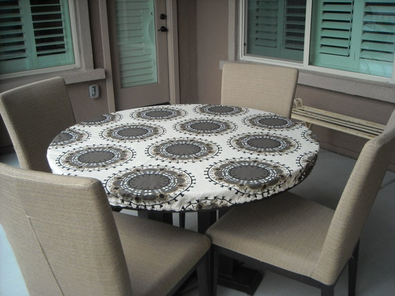 Items Similar To Elegant Fitted Round Tablecloth, Elastic