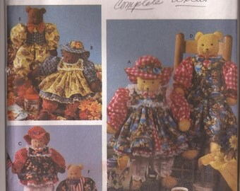"""SALE Simplicity 7222  22"""" Bear and Clothes Pattern"""