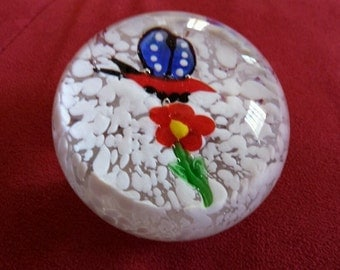 Glass Hand Blown Paperweight Decor NEW