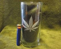 Marijuana Leaf Cooler Glass