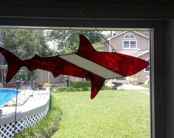 Stained Glass Shark Etsy