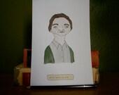 Harper Lee - Original Illustrated Literary Portrait
