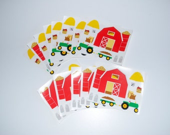 Mrs. Grossman's Vintage Farm Barn Tractor Stickers Lot of 13 from 1993