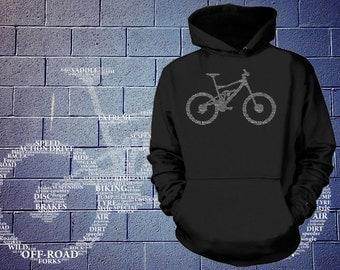 BMX Bicycle Hoodie Bicycle Parts Hooded Sweatshirt Sweater