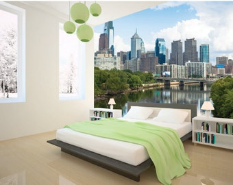 Philly Landscape Removable Wallpaper