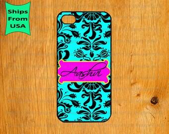 iPhone 6/6s Plus Case, iPhone 6/6s Case, Flower Pattern Monogram iPhone 5s Case, iPhone 5c Cover, iPhone 4 4s Cases,iPhone SE Case