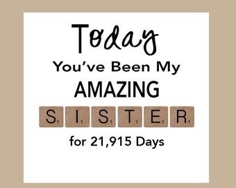 Sister Birthday Card, Big Sister Birthday Card, Little Sister Birthday Card