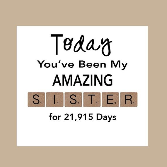 Easy Birthday Cards For Sister ~ Sister birthday card big by daizybluedesigns
